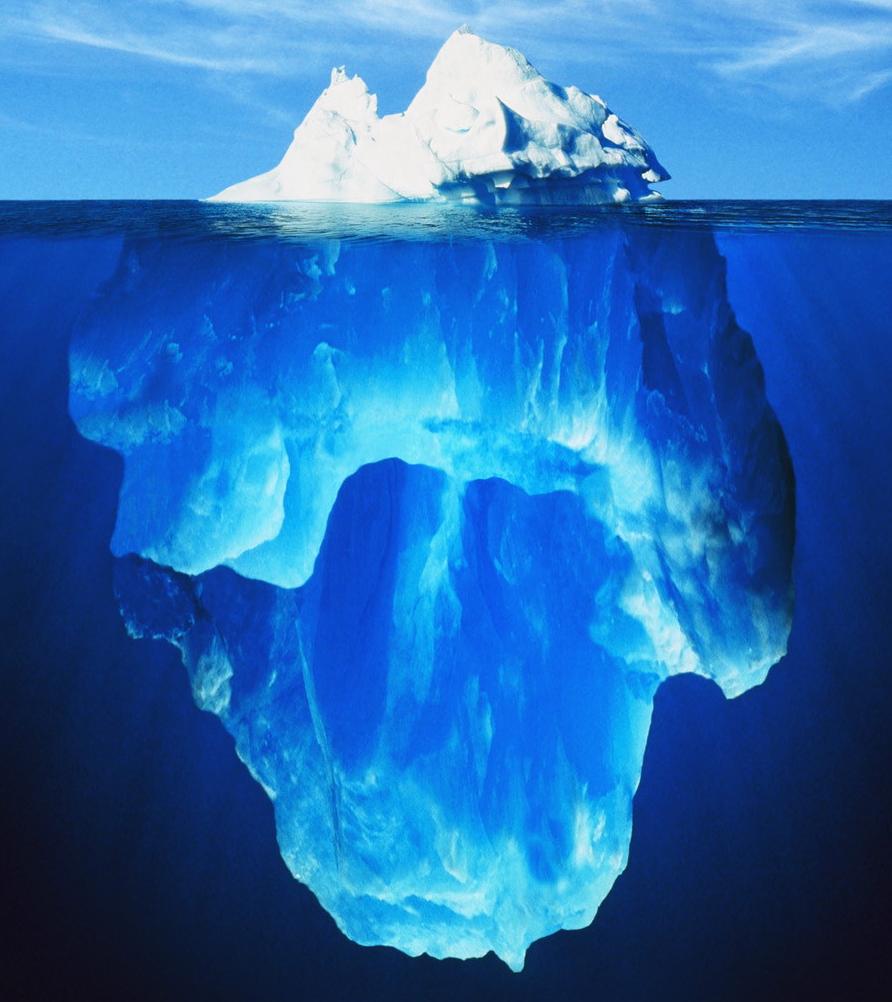 Iceberg illustre Inconscient selon Freud Psychothérapie psychanalytique Inconscient