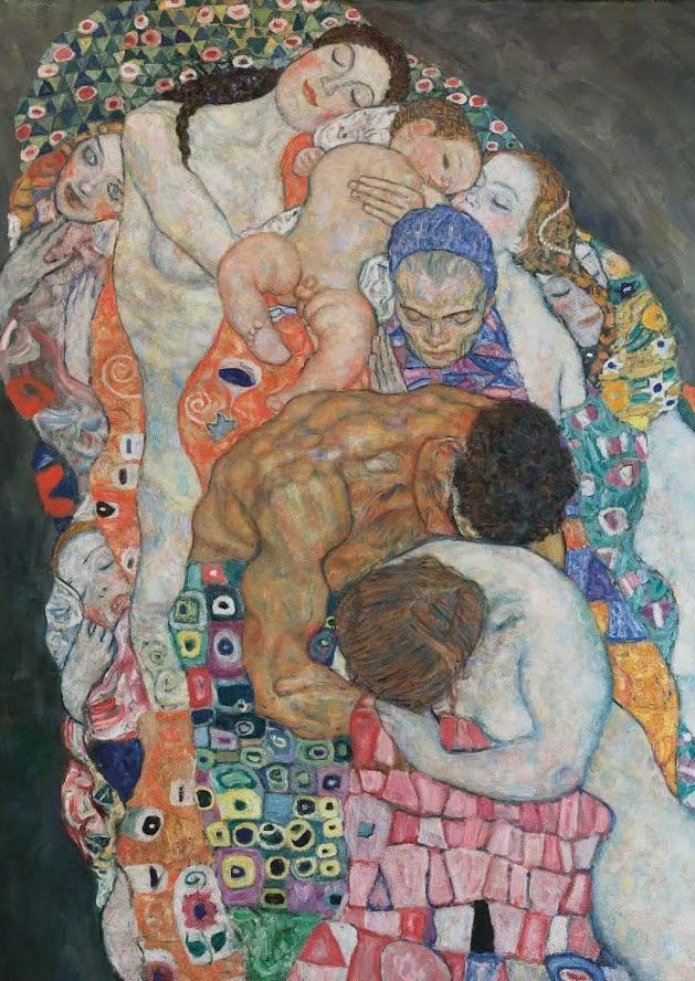 Gustav Klimt, Death and Life, fragment representant les ifficultés relationnelles