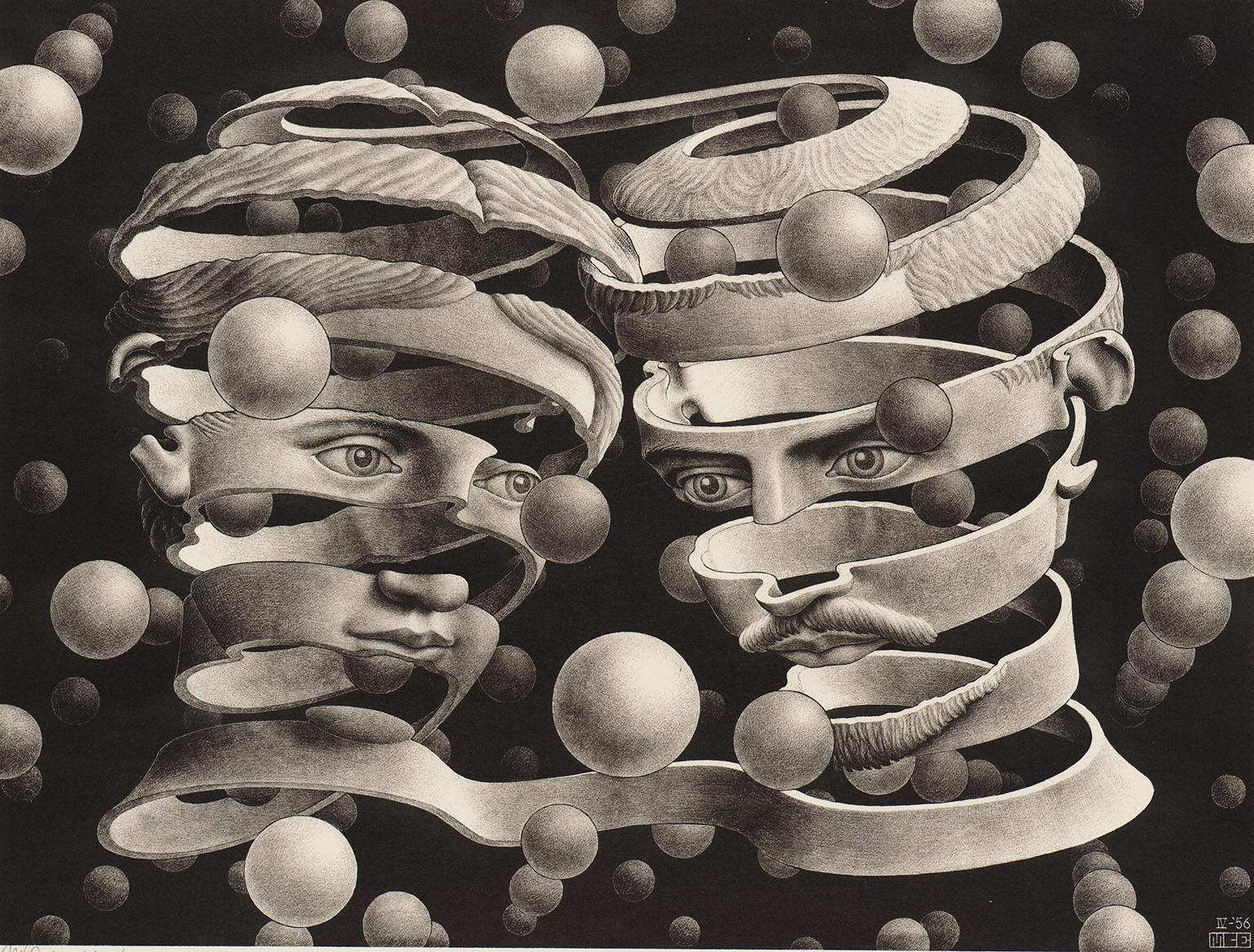 MC-Escher-Bound of Unionrelation illustre Les relations difficiles