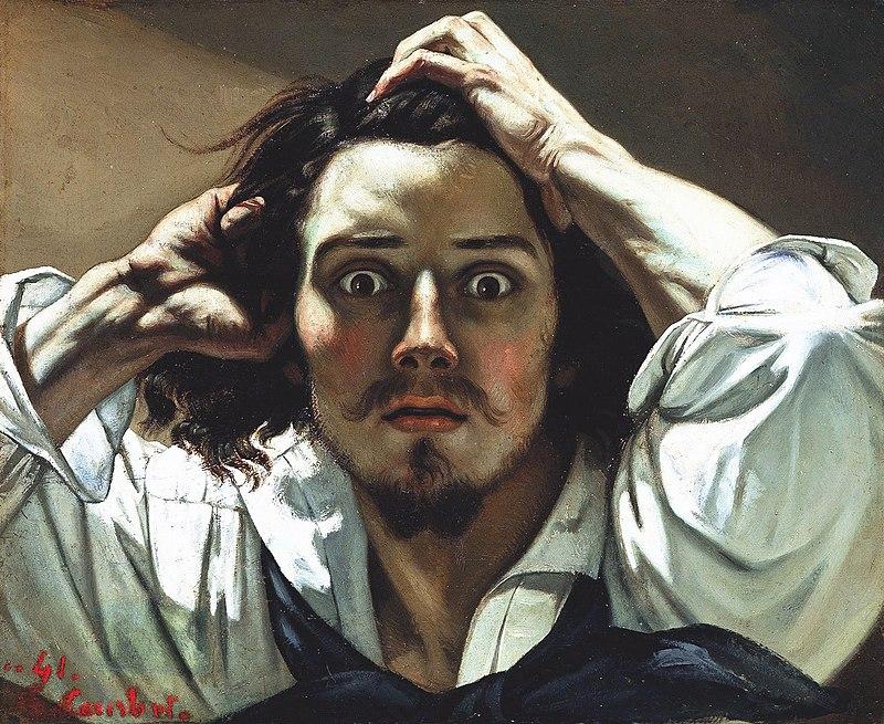 Gustave Courbet - Le Désespéré illustre angoisse