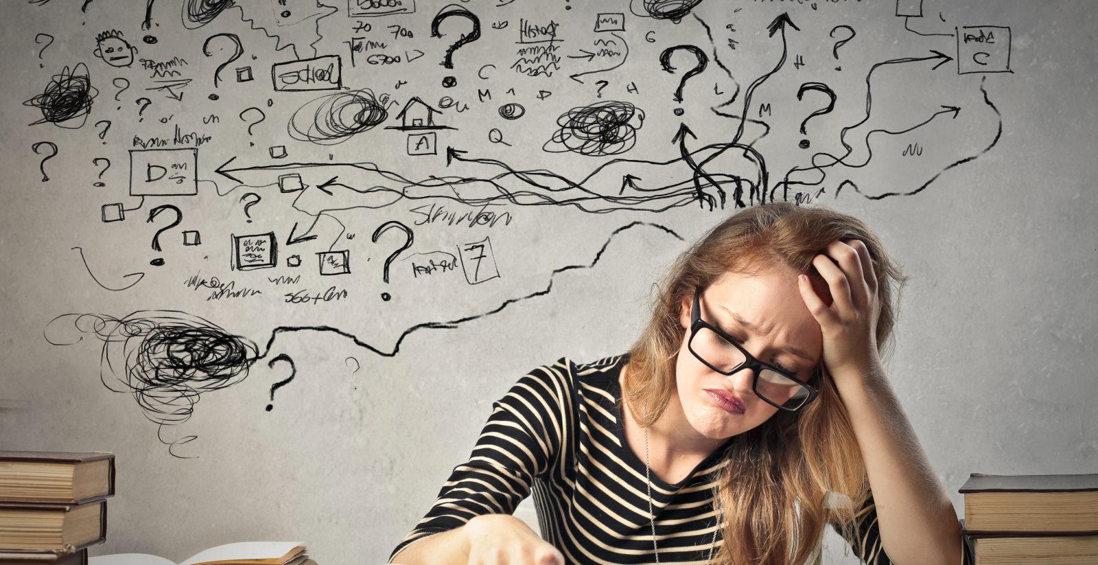 Femme stressée illustre Le stress – qu'est-ce que c'est exactement
